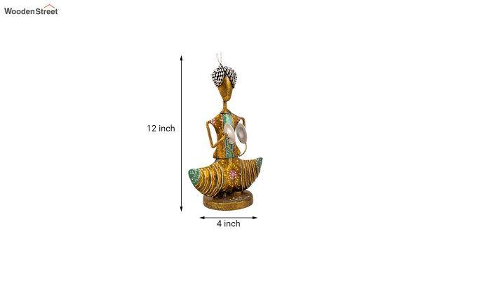 Multicolour Iron Musician Decorative Figurine - Set of 3-3