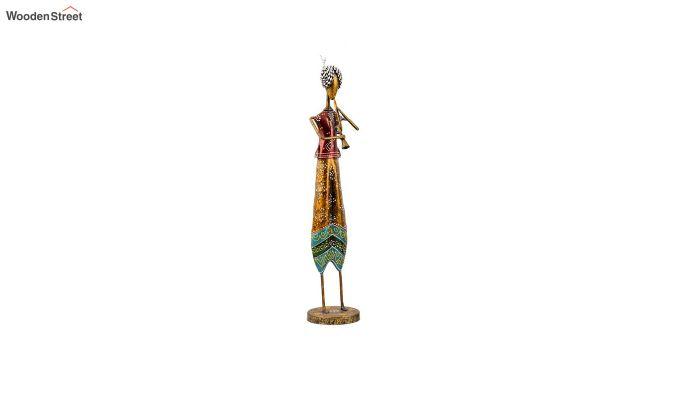 Multicoloured Iron Tribal Singer Decorative Figurine - Set of 3-3