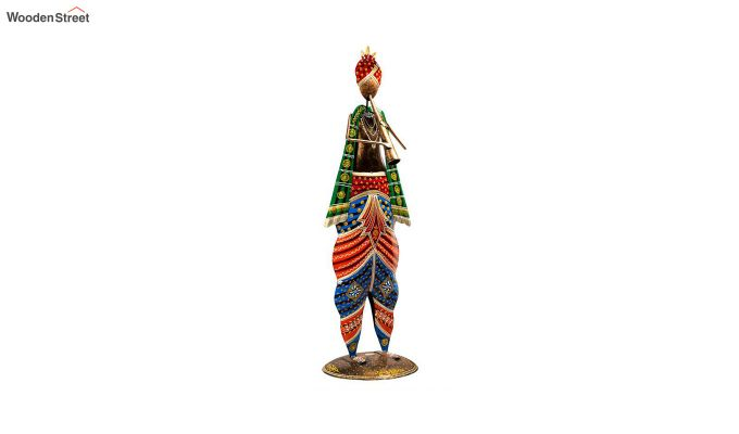 Multicoloured Iron Musician with Sarangi Decorative Figurine-2