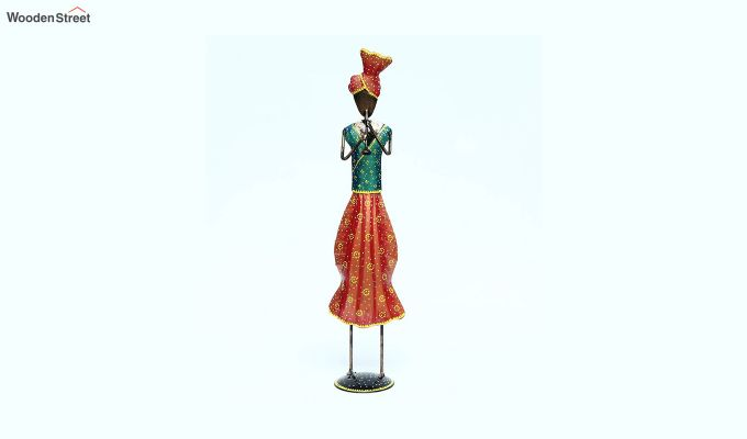 Multicoloured Iron Traditional Sardar Decorative Figurine-1