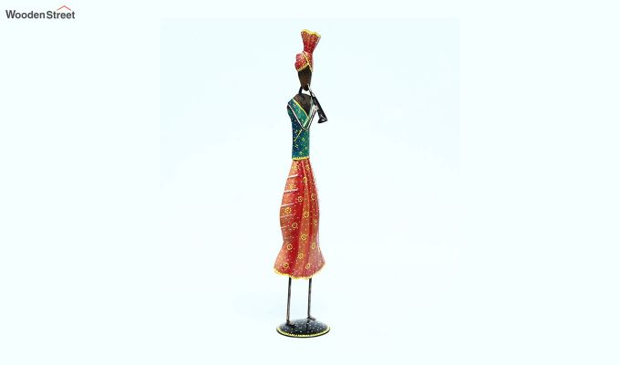 Multicoloured Iron Traditional Sardar Decorative Figurine-2