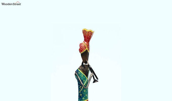 Multicoloured Iron Traditional Sardar Decorative Figurine-4
