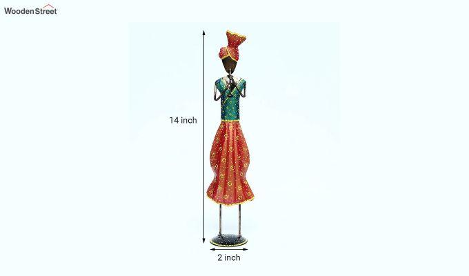Multicoloured Iron Traditional Sardar Decorative Figurine-5