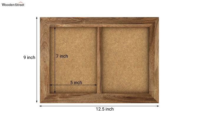 Oak Dual Photo Frame (Natural Finish)-5