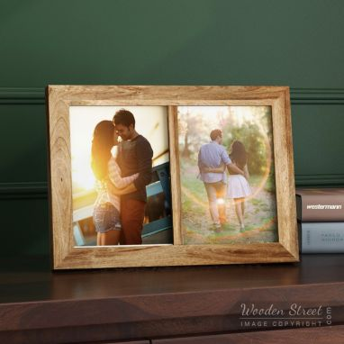 Buy Solid Wood 2 Photo Frame Online at affordable price