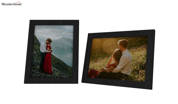 Amour Photo Frame Set Of Two (Black) (Black Finish)-4