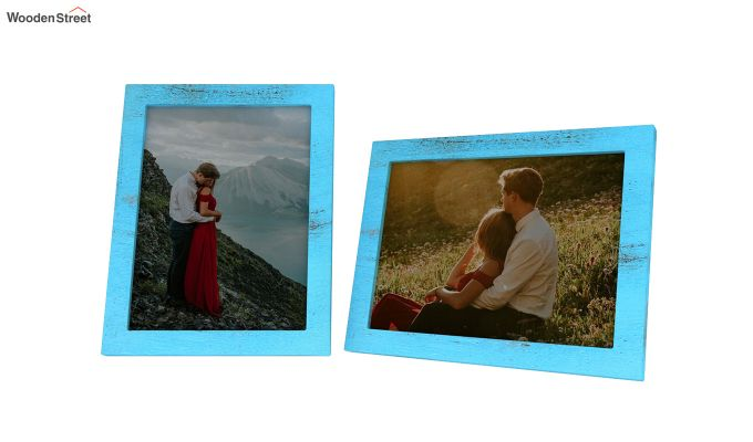 Amour Photo Frame Set Of Two (Blue) (Blue Finish)-3