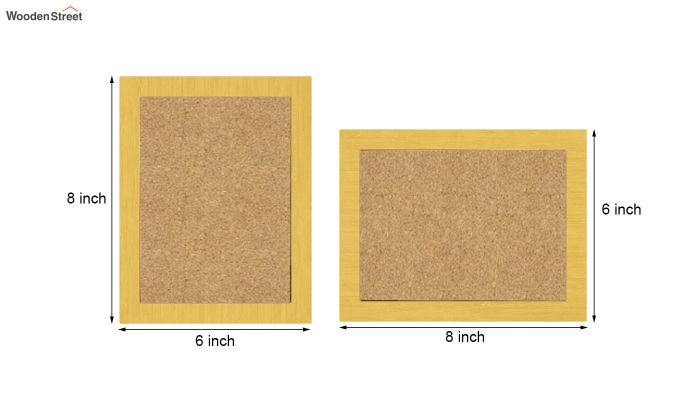 Amour Photo Frame Set Of Two (Yellow) (Yellow Finish)-5