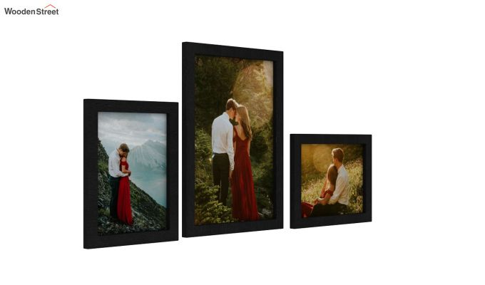 Amour Photo Frame Set of Three (Black) (Black Finish)-2