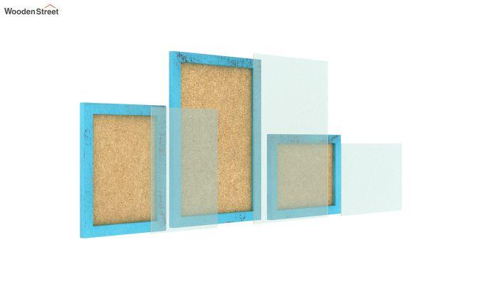 Amour Photo Frame Set of Three (Blue) (Blue Finish)-4