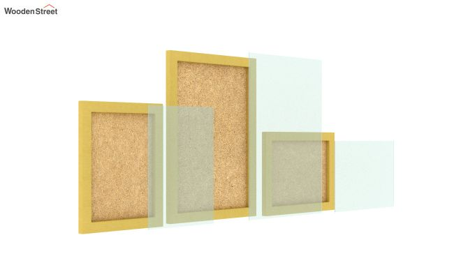 Amour Photo Frame Set Of Three (Yellow) (Yellow Finish)-4