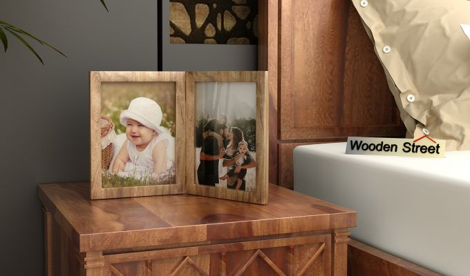 Delta Solid Wood Photo Frame (Natural Finish)-1