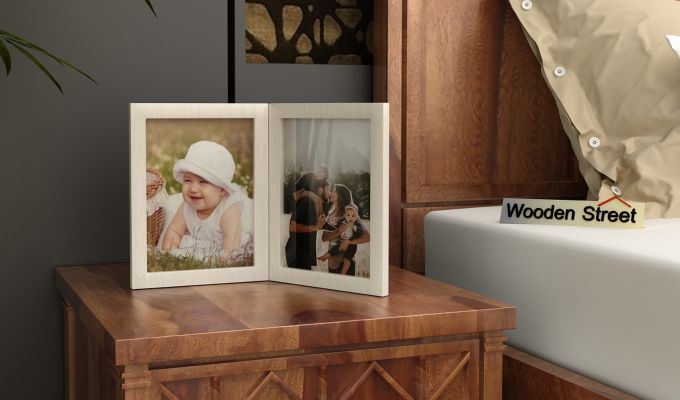 Delta Solid Wood Photo Frame (White Finish)-1