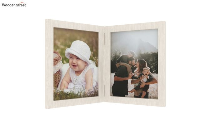 Delta Solid Wood Photo Frame (White Finish)-3