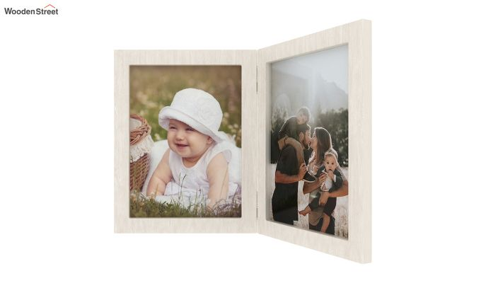 Delta Solid Wood Photo Frame (White Finish)-4