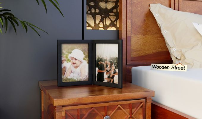Delta Solid Wood Photo Frame (Black Finish)-1