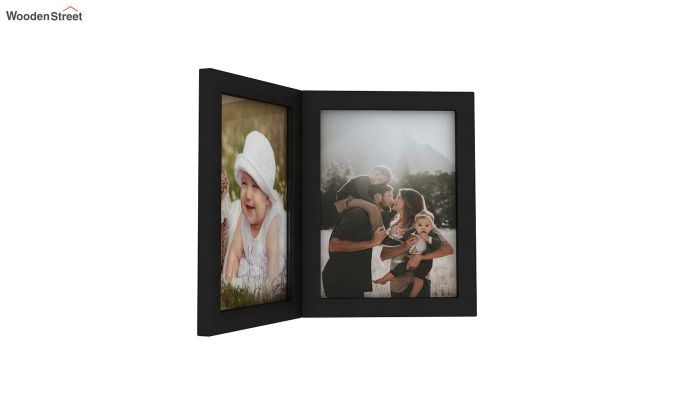 Delta Solid Wood Photo Frame (Black Finish)-3