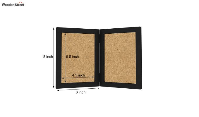 Delta Solid Wood Photo Frame (Black Finish)-5