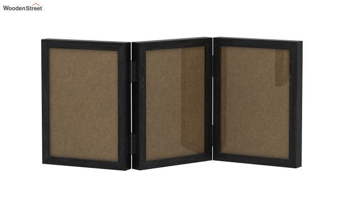 Dino Triple Folding Photo Frame (Black Finish) (Black Finish)-2