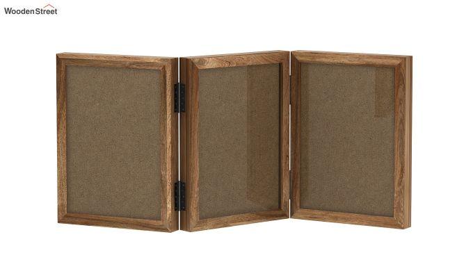 Dino Triple Folding Photo Frame (Natural Finish) (Natural Finish)-2