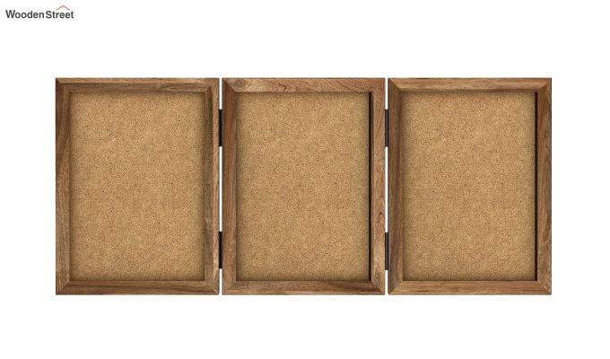 Dino Triple Folding Photo Frame (Natural Finish) (Natural Finish)-3