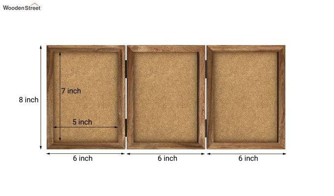 Dino Triple Folding Photo Frame (Natural Finish) (Natural Finish)-6