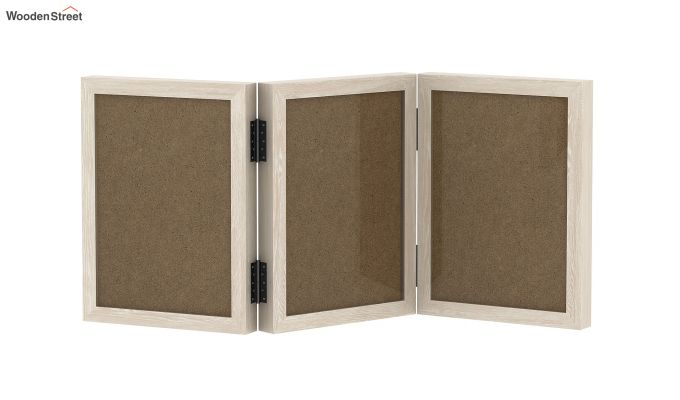Dino Triple Folding Photo Frame (White Finish) (White Finish)-2