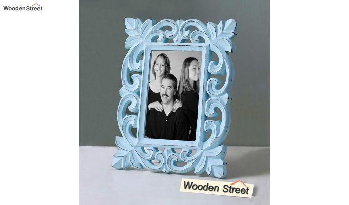 Faded Blue Photo Frame-1