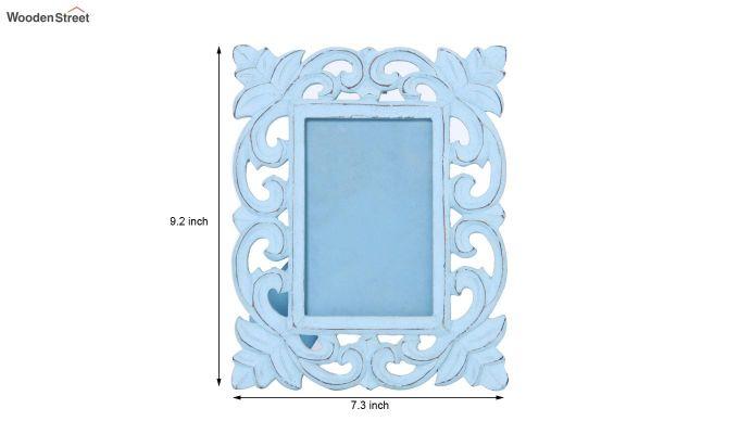 Faded Blue Photo Frame-5