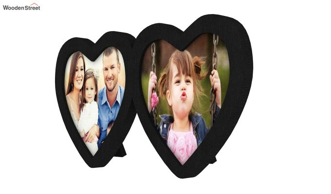 Heart Photo Frame (Black Finish) (Black Finish)-4
