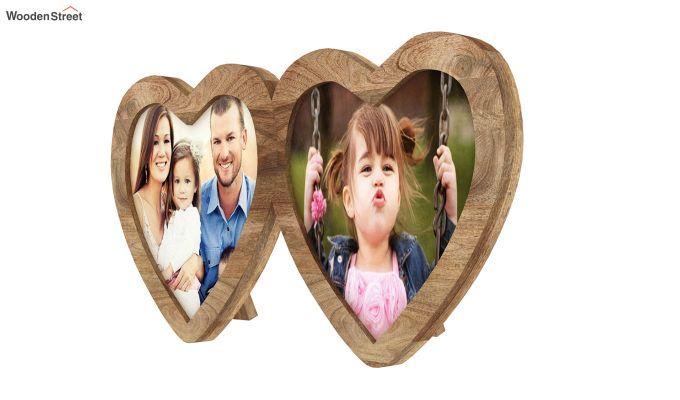 Heart Photo Frame (Natural Finish) (Natural Finish)-4