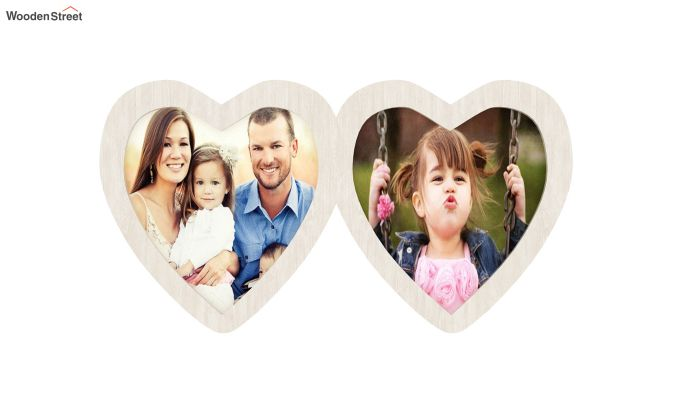 Heart Photo Frame (White FInish) (White Finish)-3