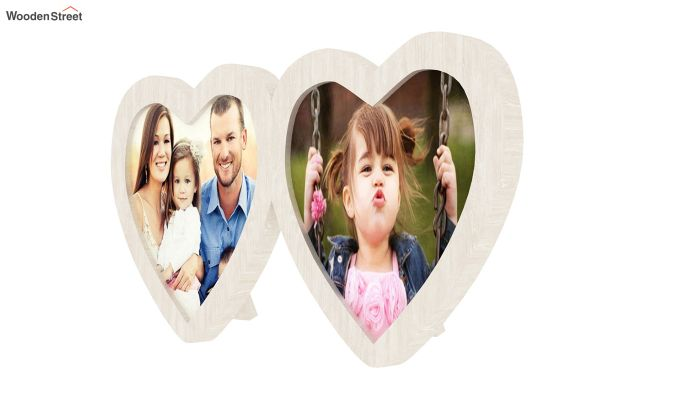 Heart Photo Frame (White FInish) (White Finish)-4