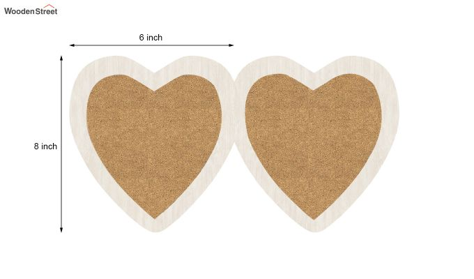 Heart Photo Frame (White FInish) (White Finish)-5