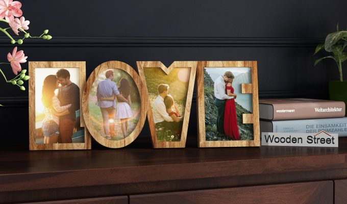 Love Photo Frame (Natural Finish) (Natural Finish)-1