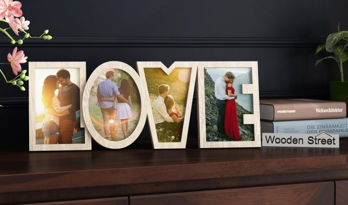 Love Photo Frame (White Finish) (White Finish)-1