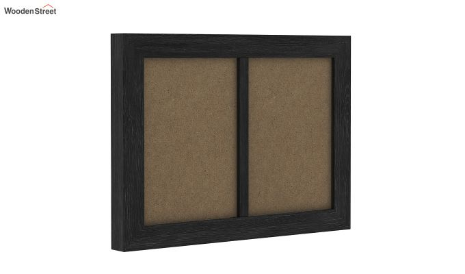Oak Dual Photo Frame (Black Finish)-2
