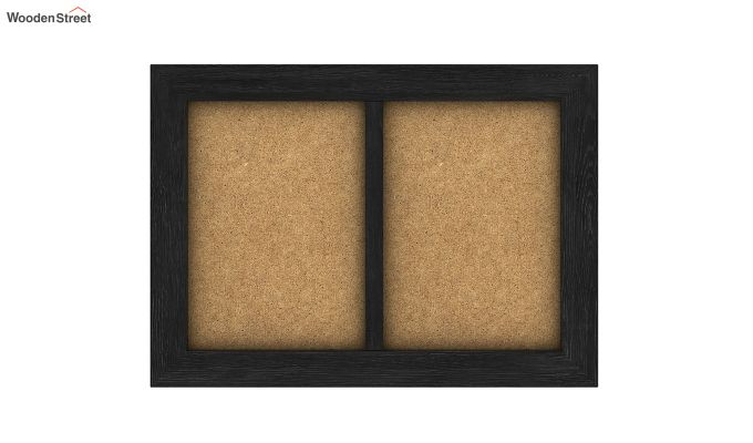 Oak Dual Photo Frame (Black Finish)-3