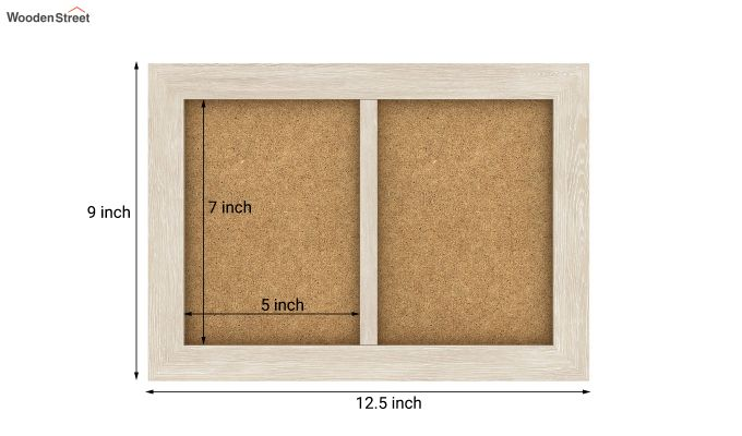 Oak Dual Photo Frame (White Finish)-5