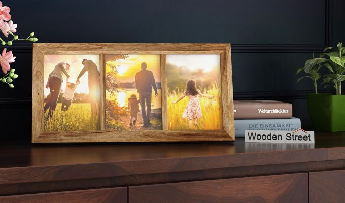 Oracle Triple Photo Frame (Natural Finish) (Natural Finish)-1