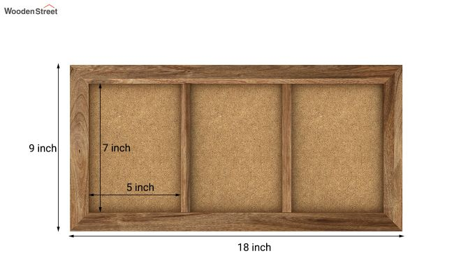 Oracle Triple Photo Frame (Natural Finish) (Natural Finish)-5