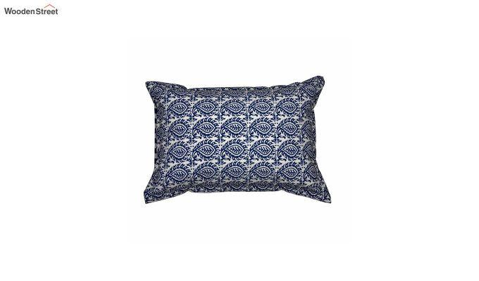 Blue Screen Print Reversible Pillow Cover - Set of 2-2