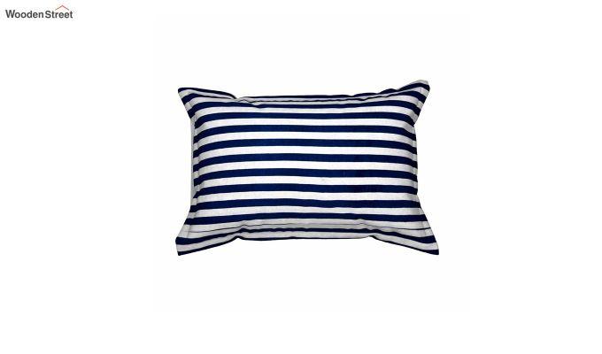 Blue Screen Print Reversible Pillow Cover - Set of 2-3