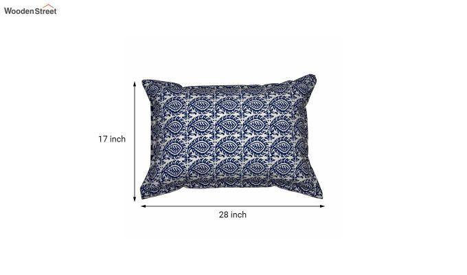 Blue Screen Print Reversible Pillow Cover - Set of 2-5