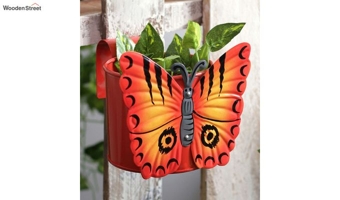 Butterfly Crimson Pot Planter-1