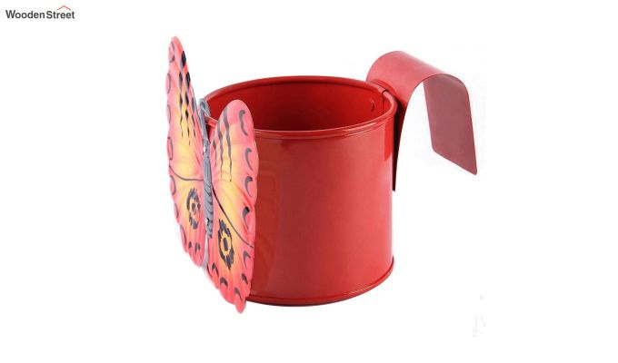 Butterfly Crimson Pot Planter-3