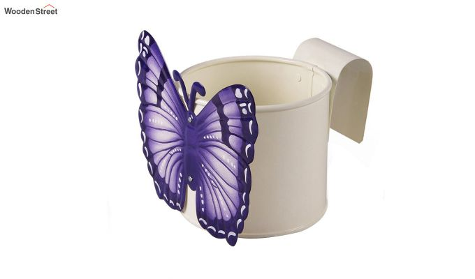 Butterfly Violet Pot Planter-3