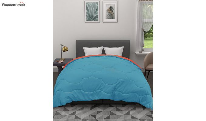 Polyester Double Bed Green Comforter-2