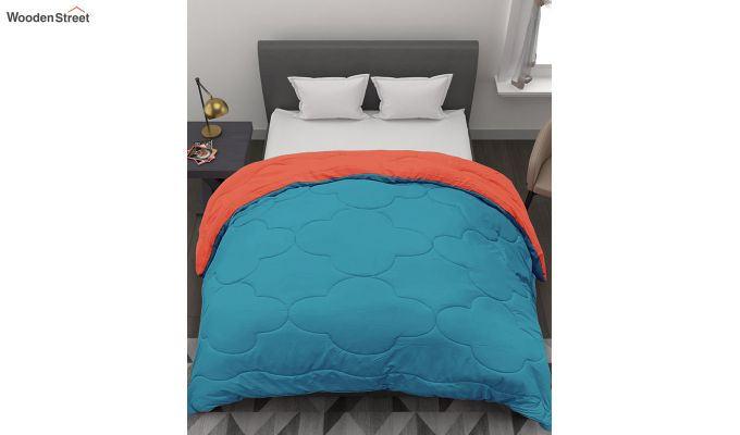 Polyester Double Bed Green Comforter-3