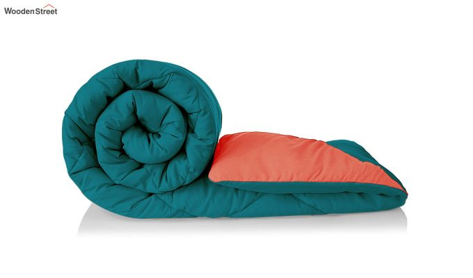 Polyester Double Bed Green Comforter-5